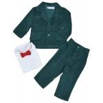 Вельветовый изумрудный детский костюм CHADOLLS
