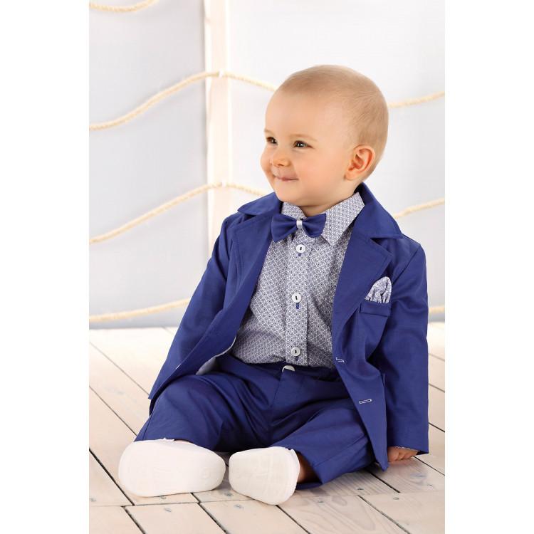 Синий костюм с синими брюками Striking, LA033