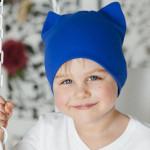 Синяя шапка подростковая