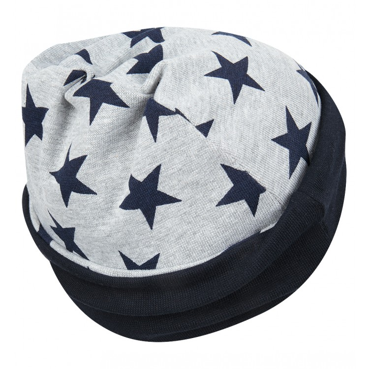 Серая шапка со звездами
