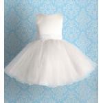 Белое праздничное платье с круживным поясом