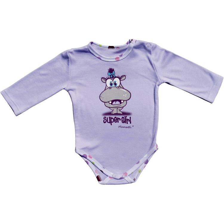 Боди для новорожденного с рисунком, фиолетовое