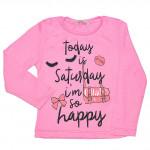 Розовый джемпер с длинными рукавами