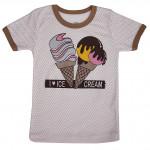Светлая футболка Ice Cream