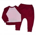 Бордовый спортивный костюм для девочки