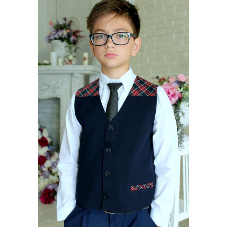 Жилетка шотландка для мальчика