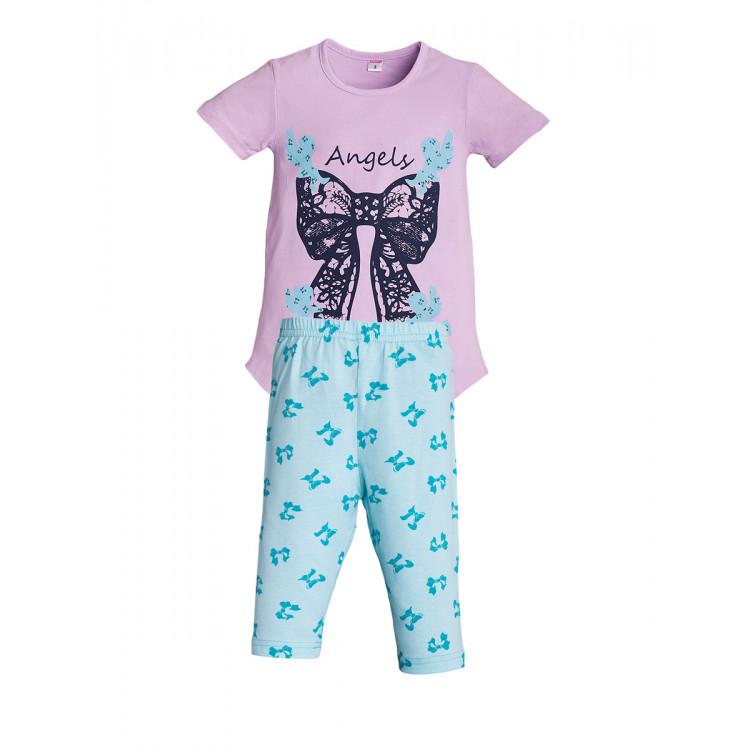 Бриджи и футболка для девочки Angels
