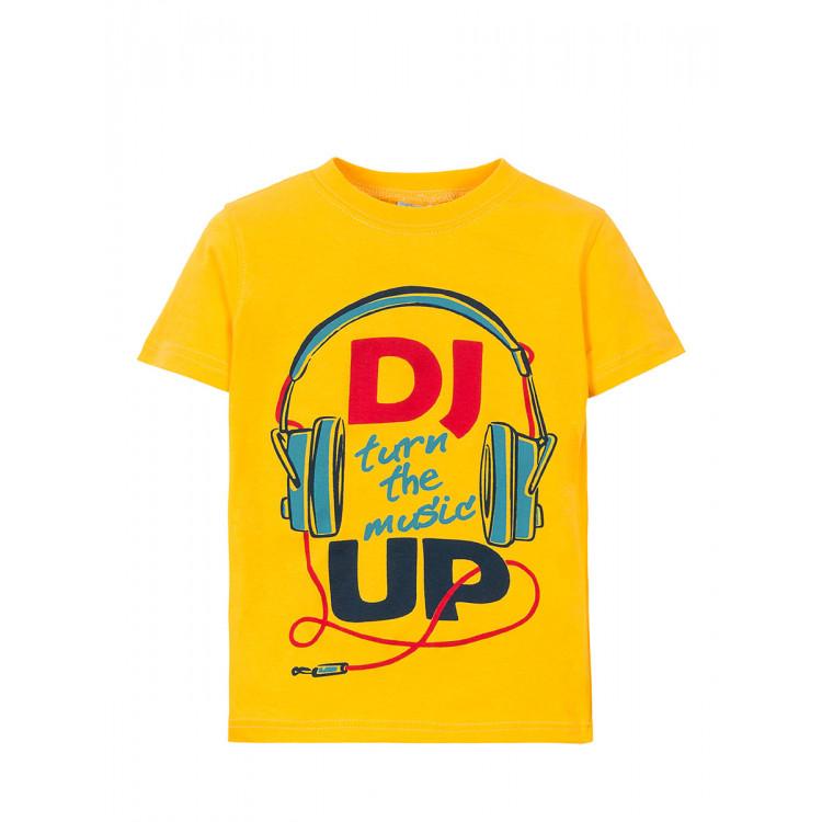 Футболка с DJ желтого цвета