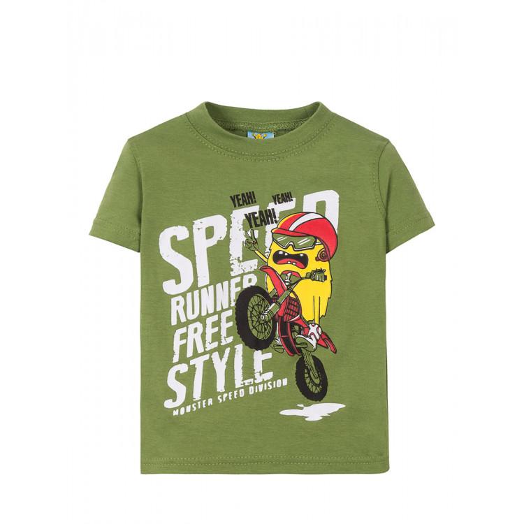 "Болотного цвета футболка ""Speed runner"""