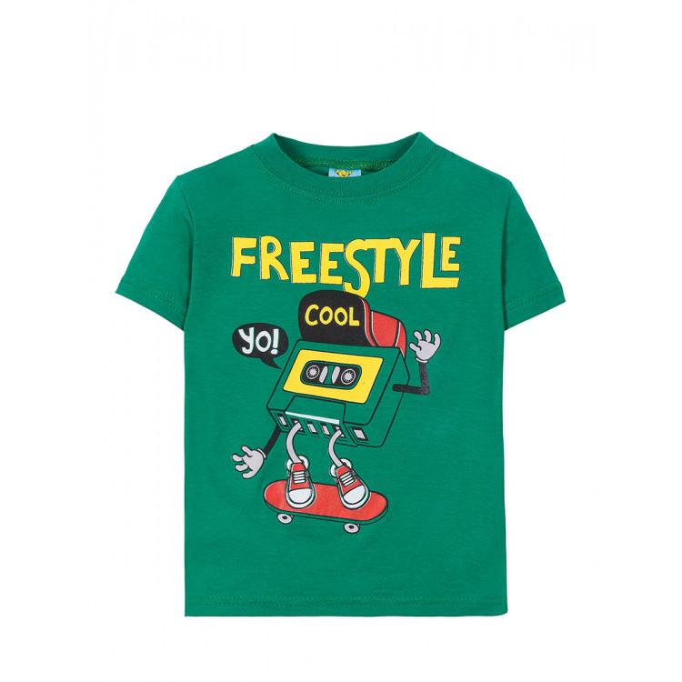 Футболка детская FreeStyle зеленая