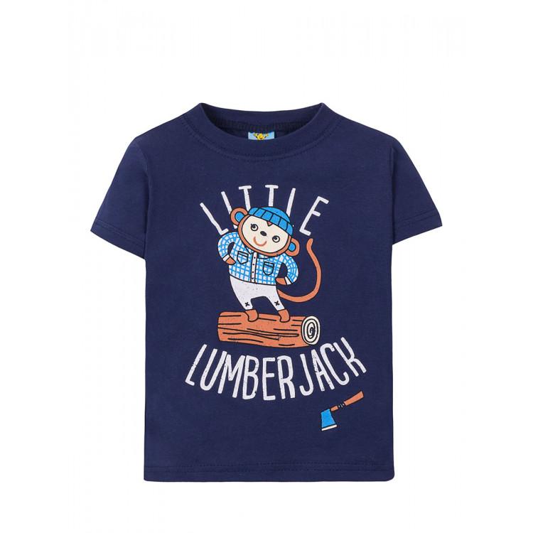 "Синяя футболка для мальчика ""LittleLumber"""