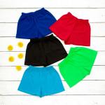 Трикотажные шорты синего цвета