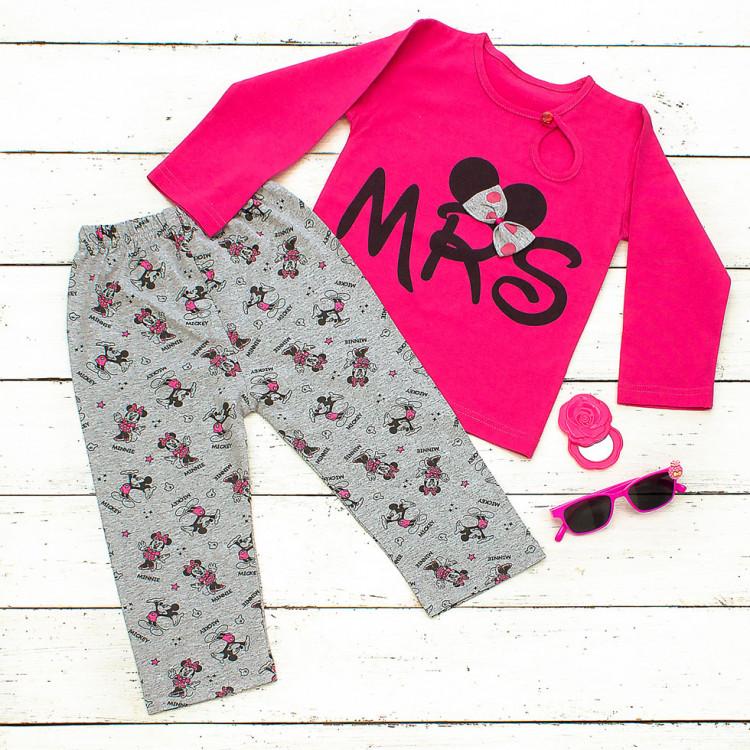 Детская пижама розового цвета Микки
