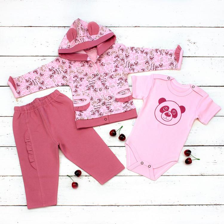Комплект боди, штанишки и куртка для девочки