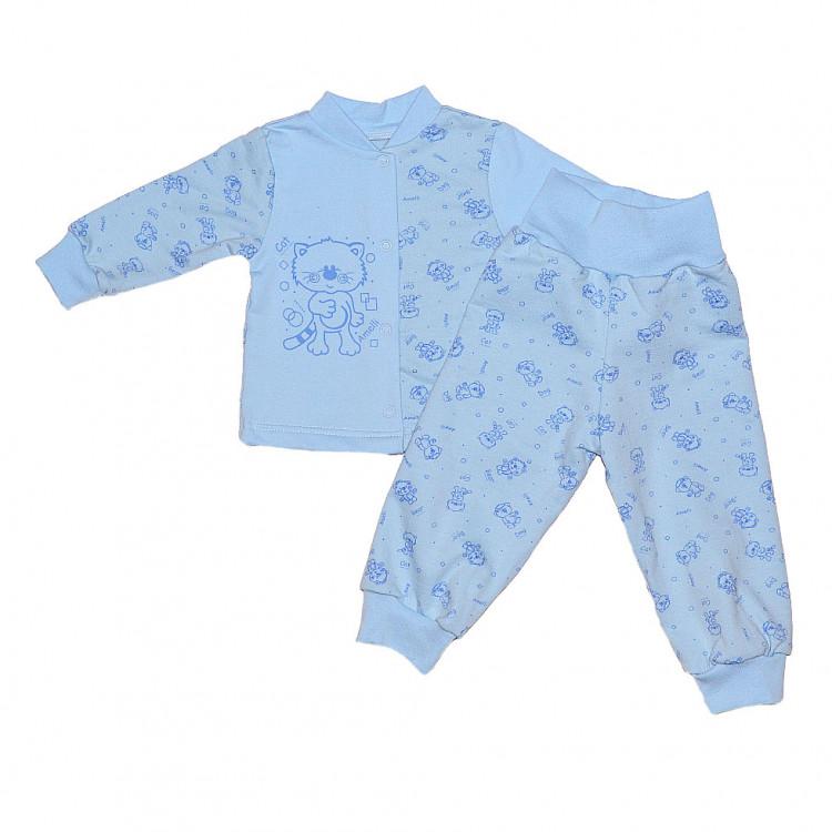 Комплект новорожденный Кошки-мышки, голубой