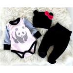 Новорожденный комплект Панда, розовый