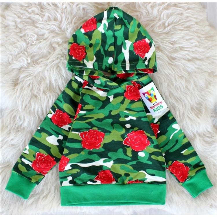Толстовка для девочки с розами