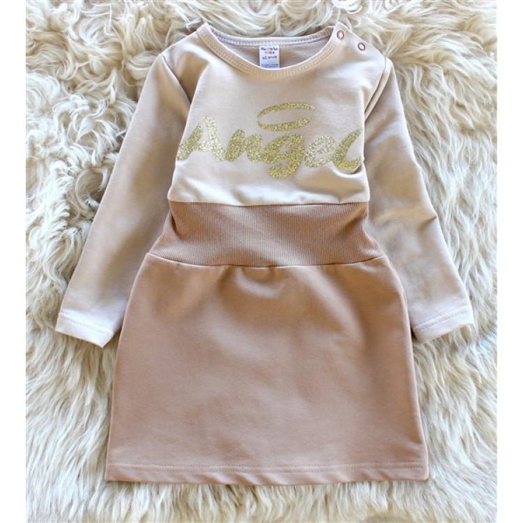 Платье для девочки Angel бежевое