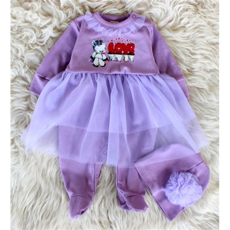 Платье комбинезон фиолетовое