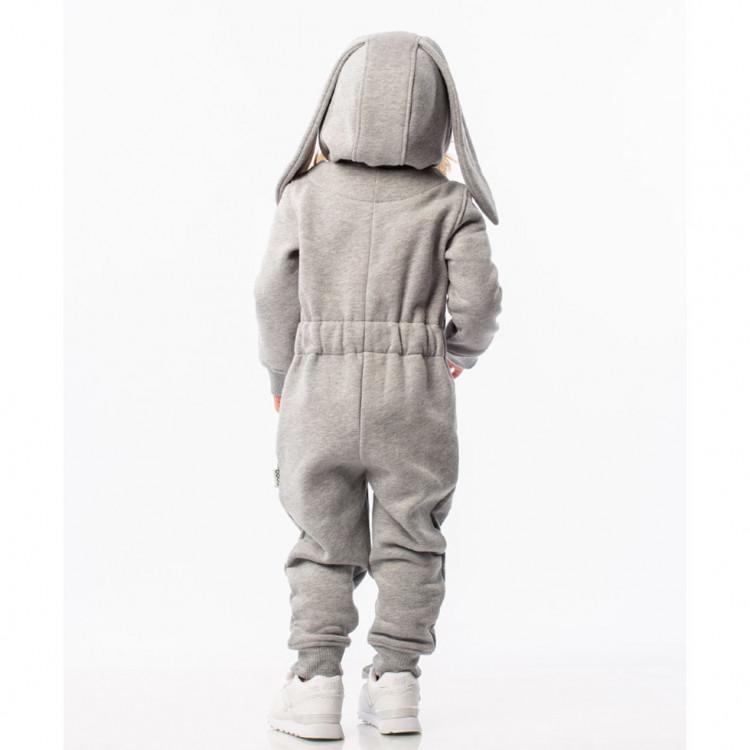 Комбинезон детский серый зайка