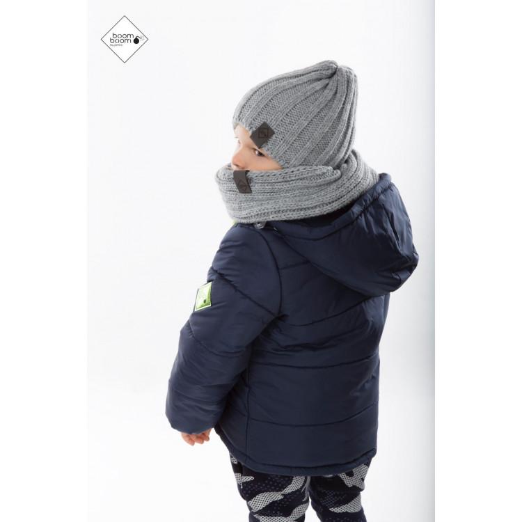 Куртка зимняя для мальчика темно-синяя