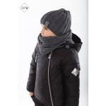 Зимняя дутая куртка для мальчика, черная