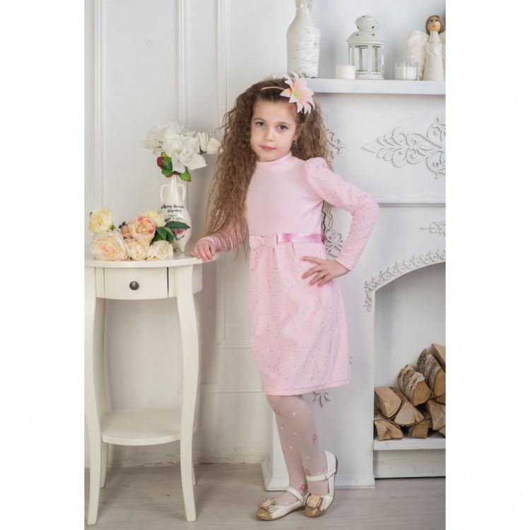 Платье велюр с люрексом