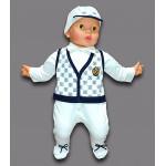 Комбинезон детский на выписку для мальчика с кепкой