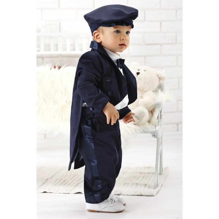 Купить благородный фрак для мальчика, синий