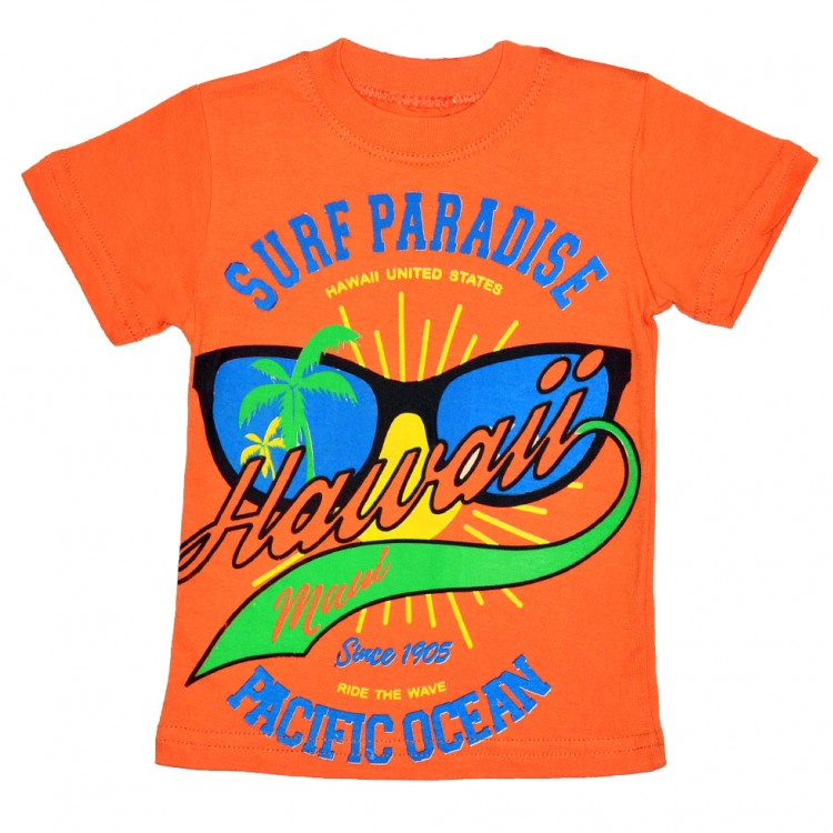 Ярко-оранжевая футболка для мальчика