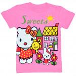 """Розовая футболка для девочки """"Sweets"""""""