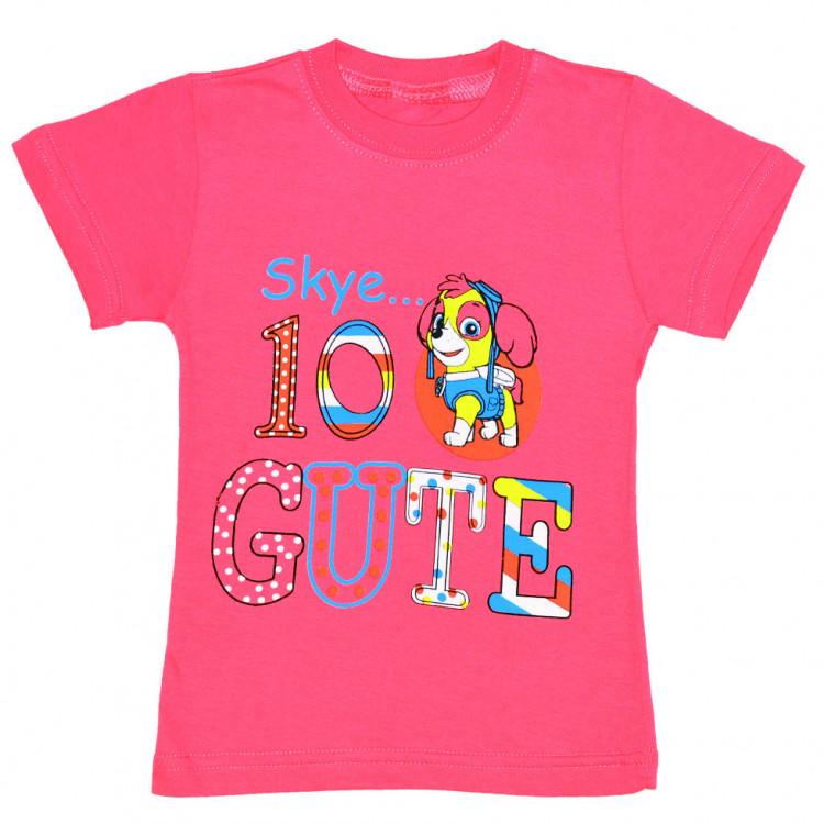 Для девочки футболка в розовой цвете с рисунком