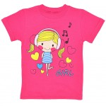"""Детская красная футболка для девочки """"Girl"""""""
