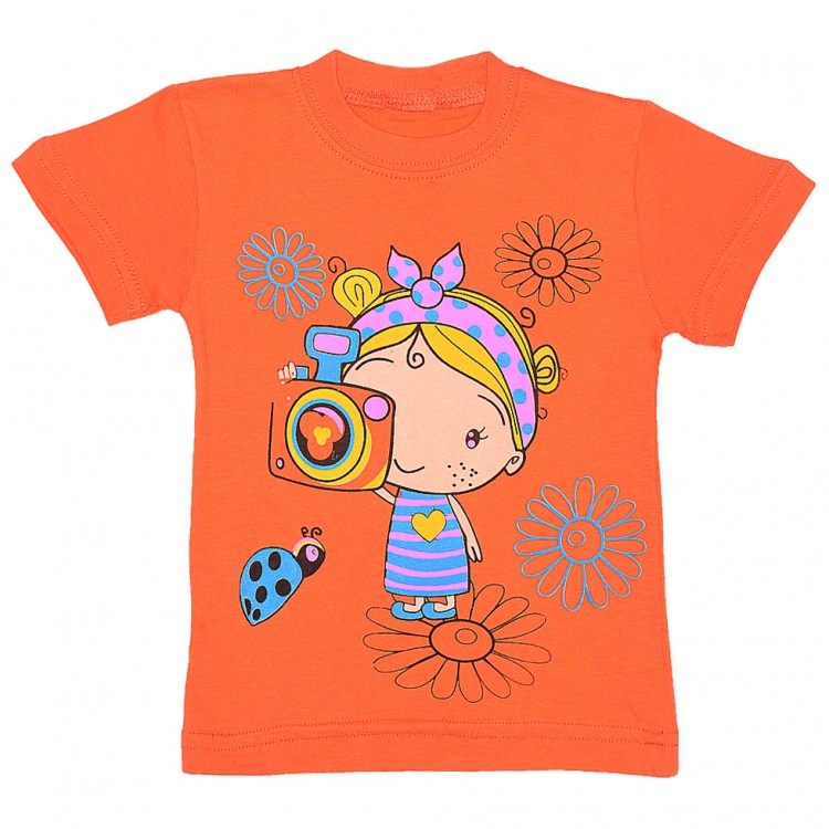 """Яркая футболка для маленькой девочки """" Foto"""""""