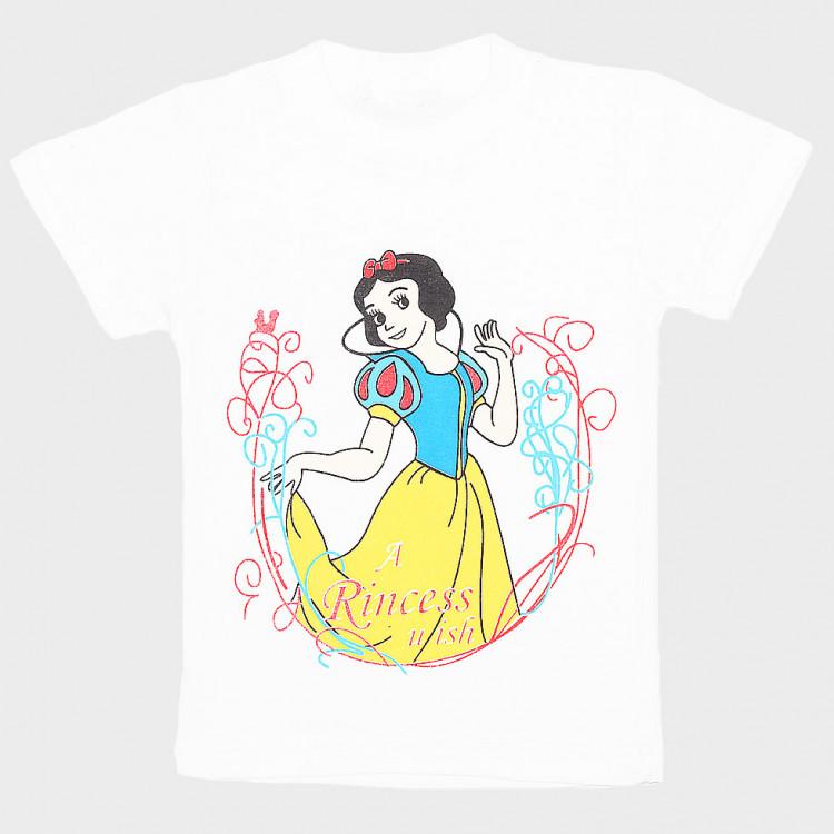 Белоснежная футболка для девочки
