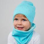 Демисезонная шапка мятного цвета
