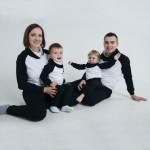 Черно-белый костюм спортивный универсальный