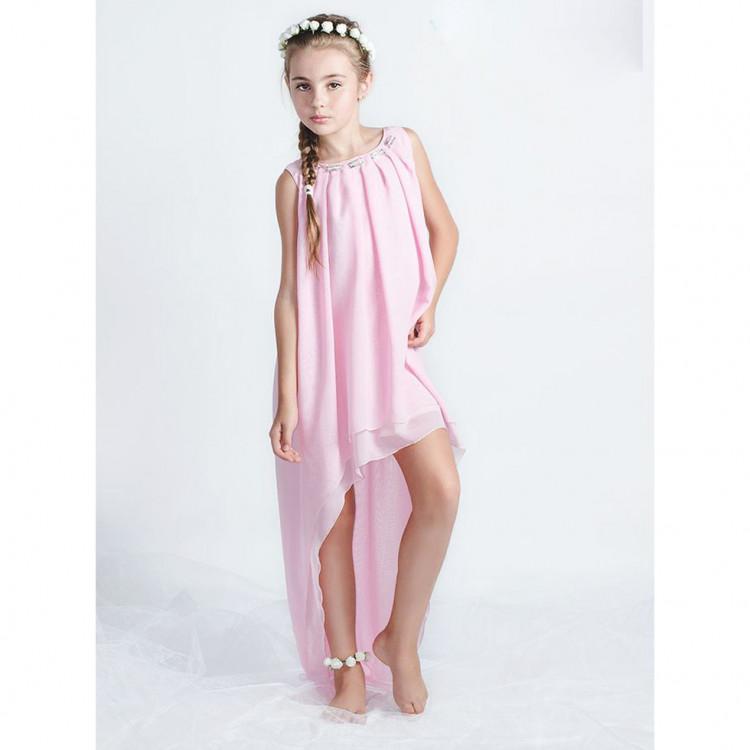 Праздничное подростковое платье нежного цвета