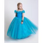 Платье золушки голубого цвета
