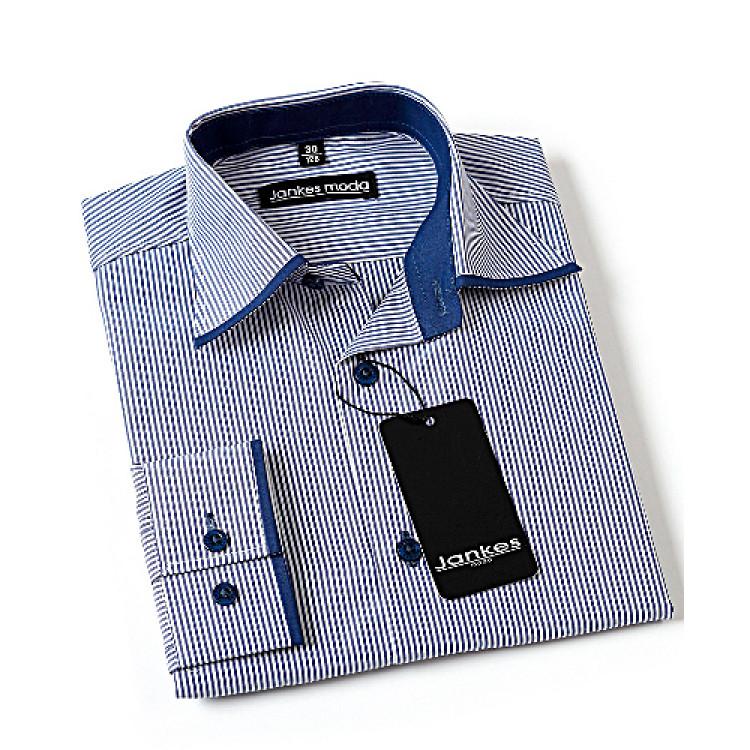 Рубашка подростковая в вертикальную полоску