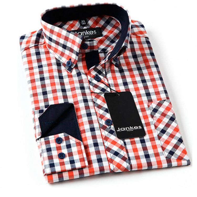 Рубашка подростковая клетка цвета