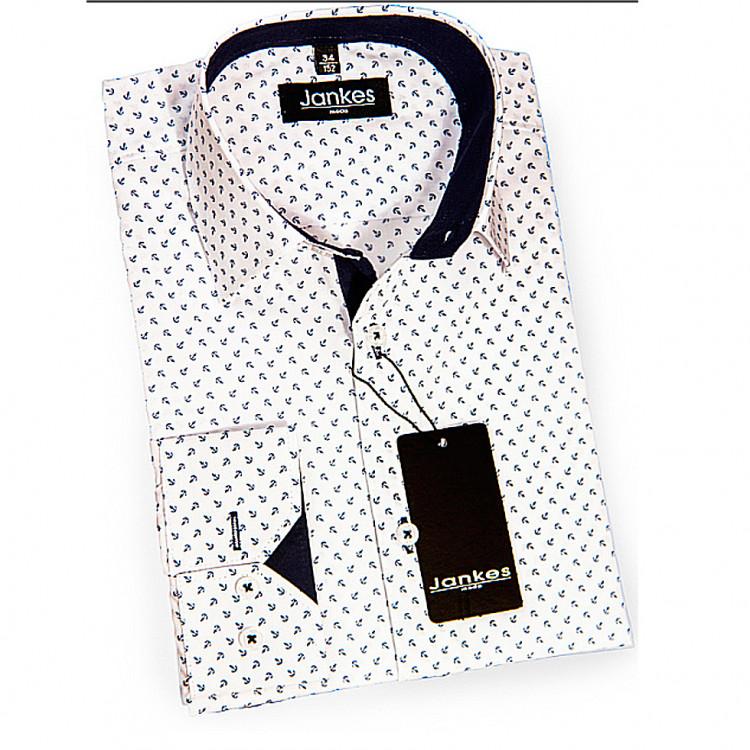 Рубашка подростковая с якорным рисунком