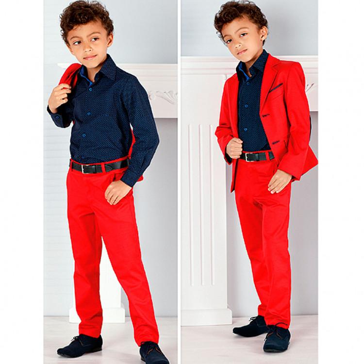 Красные брюки для подростка Zoldo