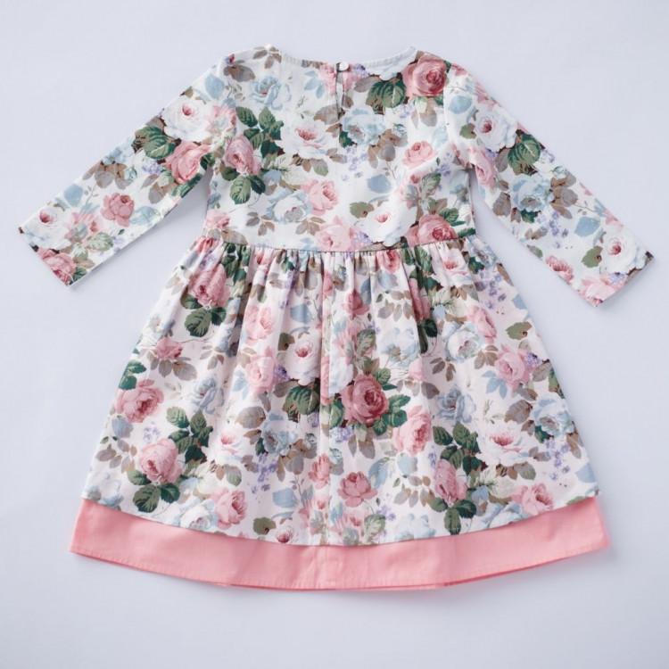 Платье пышное с розами