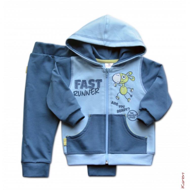 Синий спортивный костюм детский
