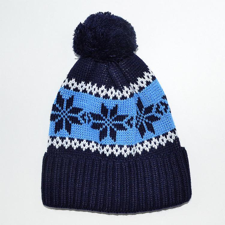Шапка зимняя для мальчика синяя