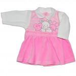 """Велюровое платье """"Мышки"""", розовое"""