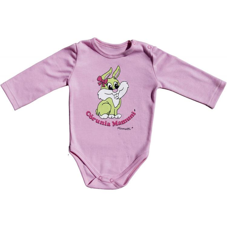 Боди для новорожденного с рисунком, розовое