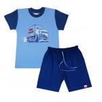 Летний комплект с шортами и футболкой, Bartek, голубой
