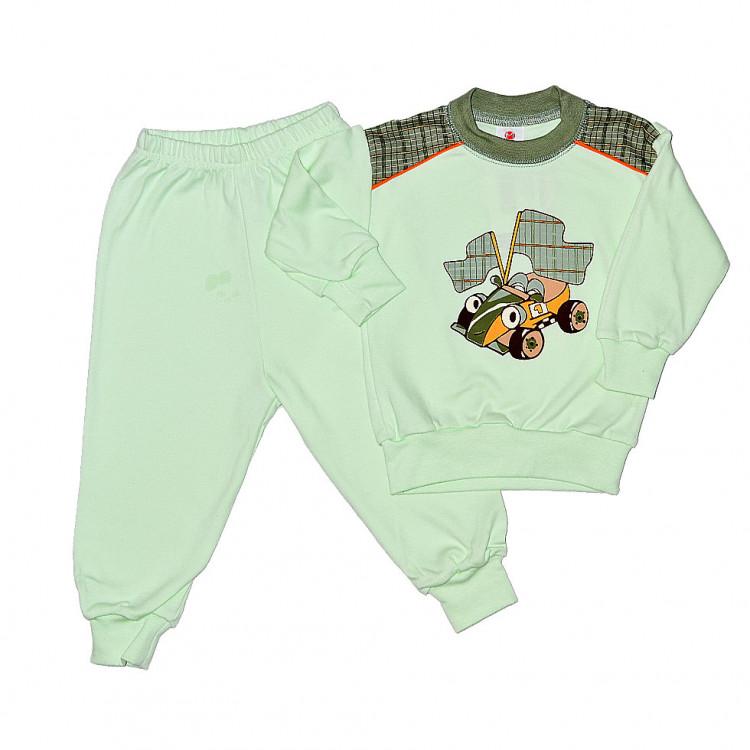 Пижама с длинными рукавами, Happy Green